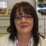 Wendy - receptionist and frame fitter at Robin Hall Opticians, Manchester