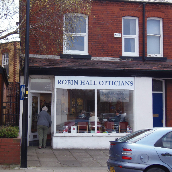The Front of Robin Hall Opticians, Manchester
